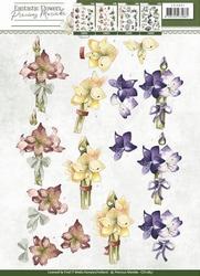 3D Knipvel Precious Marieke CD10857 Fantastic Flowers
