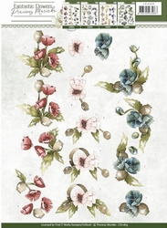 3D Knipvel Precious Marieke CD10855 Fantastic Flowers