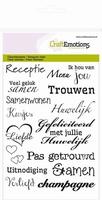CraftEmotions A6 clearstamps 1151 Tekst NL Huwelijk