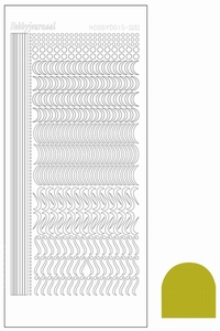 Stickervel Hobbydots Mirror STDM20E Yellow