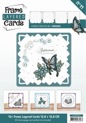 Linnen Layered Frame Cards LC4K10011/- 4kant