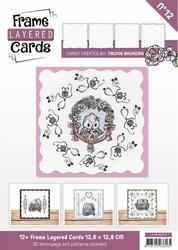 Linnen Layered Frame Cards LC4K10012/- 4kant