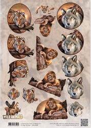 3D Knipvel Amy Design CD10866 Wild Animals Big Five 1