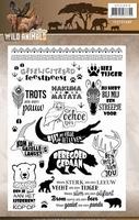 Amy Design Clearstamp ADCS10016 Wild Animals tekst