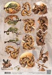 3D Knipvel Amy Design CD10869 Wild Animals Reptiles/reptiel