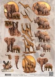 3D Knipvel Amy Design CD10868 Wild Animals Big Five 2