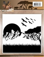 Amy Design Embossing Folder ADEMB10006 Wild Animals