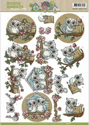 3D Stansvel Yvonne Creations SB10163 Moving Madness Owls