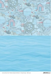 Background vel BGS10030 Amy Design Maritime Zee/elementen