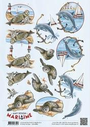 3D Knipvel Amy Design CD10880 Maritime Zeedieren