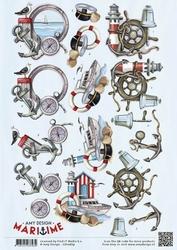 3D Knipvel Amy Design CD10879 Maritime Zee elementen