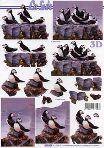 A4 Knipvel Le Suh 777023 Vogels papegaaiduikers
