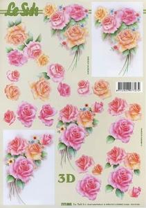 A4 Knipvel Le Suh 777005 Bloemen rozen