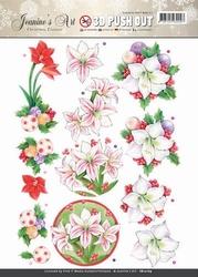A4 Pushout Jeanines Art SB10169 Christmas Classics Amaryllis