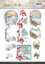 A4 Pushout Jeanines Art SB10171 Christmas Classic Landscapes