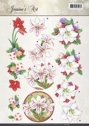 A4 Knipvel Jeanines Art CD10883 Christmas Classics Amaryllis