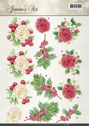 A4 Knipvel Jeanines Art CD10884 Christmas Classics Rose