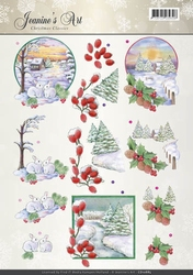 A4 Knipvel Jeanines Art CD10885 Christmas Classic Landscapes