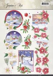 A4 Knipvel Jeanines Art CD10887 Christmas Classic Landscapes