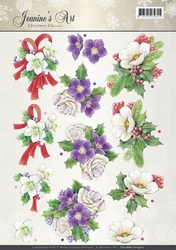 A4 Knipvel Jeanines Art CD10886 Christmas Classic Helleborus