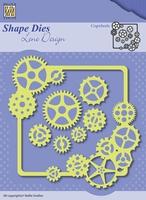 Nellie's Shape Dies Lene Design SDL038 Men things Radertjes