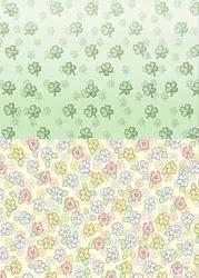 Background vel BGS10037 Get Well Soon Klavertje/bloemen