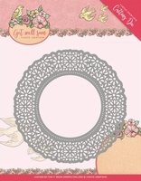 Yvonne's Die YCD10101 Get Well Soon Flower Doily