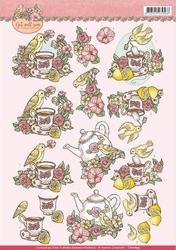 3D Knipvel Yvonne CD10899 Get Well Soon Lemon tea