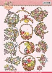 3D Knipvel Yvonne CD10898 Get Well Soon Fruit basket