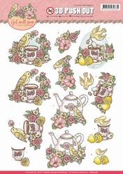 3D Stansvel Yvonne SB10176 Get Well Soon Lemon tea