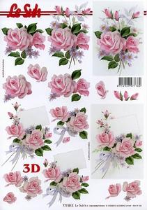 A4 Knipvel Le Suh 777012 Bloemen rozen