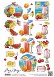 3D Knipvel Amy Design CD10925-HJ14801 Summer Drinks
