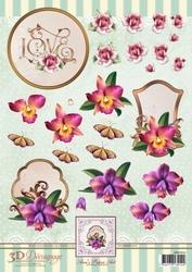 3D Knipvel Ann's Paper Art APA3D016 Orchids