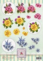 3D Knipvel Ann's Paper Art APA3D015 Flower Circles