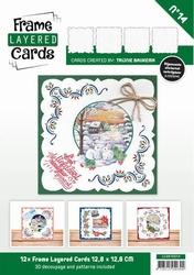 Linnen Layered Frame Cards LC4K10014/- 4kant