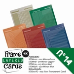 Stickerset LCST014 voor Layered frame cards 14/- 4kant