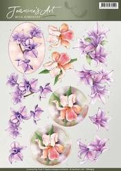 3D Knipvel Jeanines Art CD10915 With Sympathy Sympathy flowe