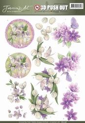 3D Pushout Jeanines Art 10178 With Sympathy Violet flowers