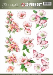 3D Pushout Jeanines Art 10179 With Sympathy Pink flowers