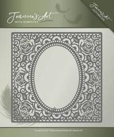 Jeanines Art Die JAD10011 With Sympathy Rose Frame