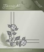 Jeanines Art Die JAD10014 With Sympathy Rose Corner