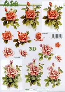 A4 Knipvel Le Suh 777020 Bloemen rozen