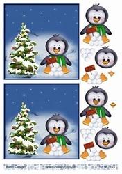 A4 Knipvel Barto Design 67355 Vrolijk kerstfeest