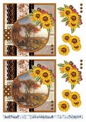 A4 Knipvel Barto Design 67354 Herfst met zonnebloem