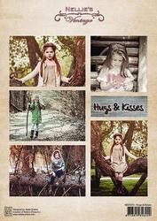 A4 Vel Nellie's Vintage Nevi071 Hugs & kisses