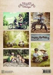 A4 Vel Nellie's Vintage Nevi070 Birthday boys