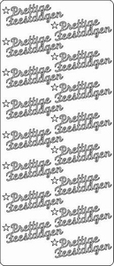 Tekststicker 015 Peel-off 1602 Prettige feestdagen