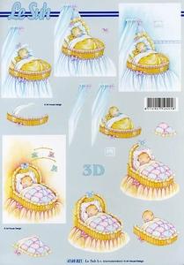 A4 Knipvel Le Suh 4169821 Geboorte/Baby in wieg