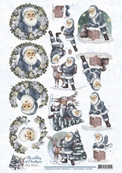 3D Knipvel Amy CD10921 The feeling of Christmas Santa claus