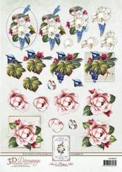 3D Knipvel Ann's Paper Art APA3D017 Fairy Wrens